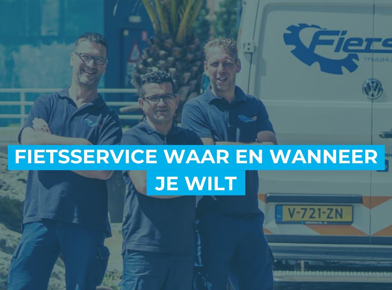 Fiets online bestellen bij Fietsuniek.nl. Fietsservice on demand.