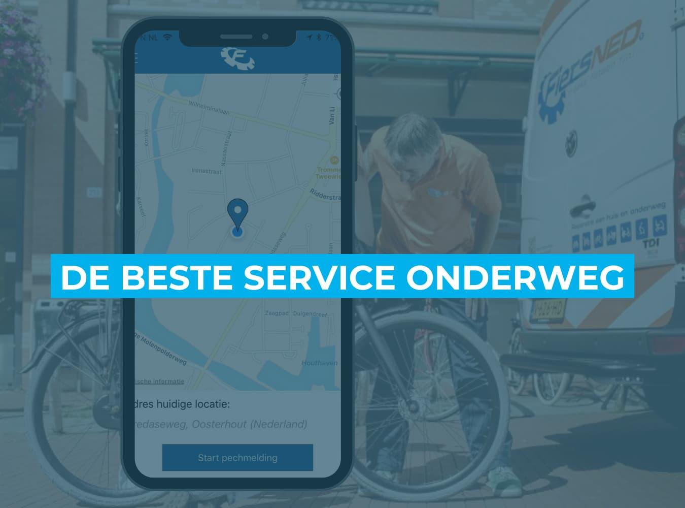Fiets online bestellen bij Fietsuniek.nl. Pechhulp onderweg.