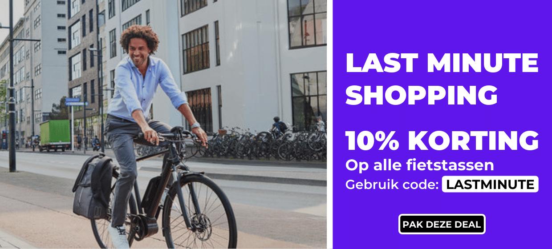 10 procent korting op alle fietstassen