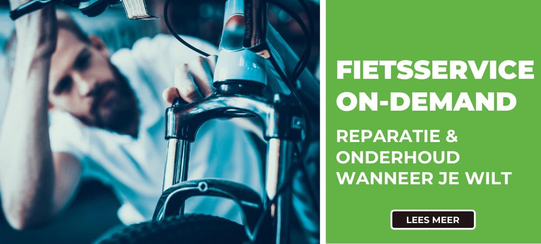 Met fietsservice on-demand heb je de mogelijkheid om op ieder gewenst moment gebruik te maken van de beste fietsservice bij je thuis of op je werk.