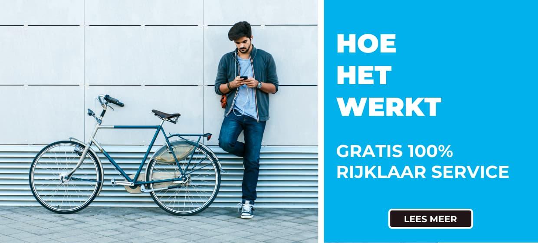 Bestel je fiets gemakkelijk online bij Fietsuniek.nl. Gratis 100% rijklaarservice. Gratis Thuisbezorgd. Lees hier hoe het werkt.