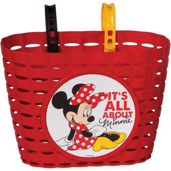 Widek fietsmandje pvc Minnie Mouse rood