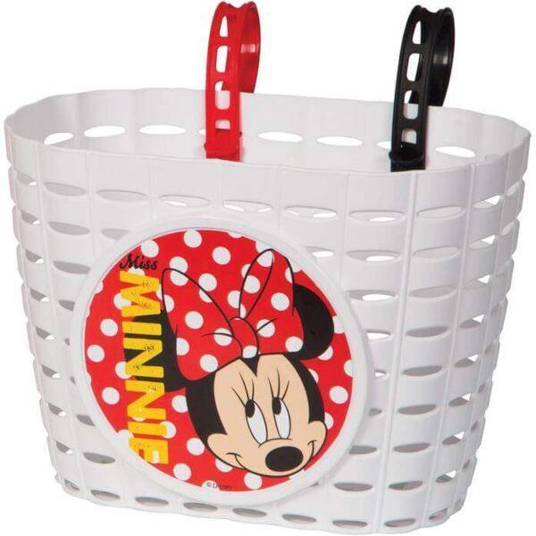 Widek fietsmandje pvc Minnie Mouse wit