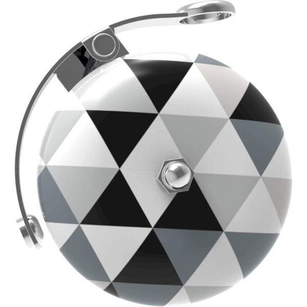 Urban Proof Retro bel 60mm Driehoek zwart/wit